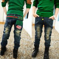Spring children's clothing children's jeans boys pants autumn 2014 winter new Korean version of the influx of money men trousers