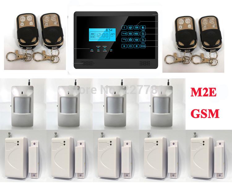 P349 m2e testo senza fili gsm sms sistema di allarme di sicurezza domestica, uscita a relè, 850/900/1800/1900 MHz, touch screen, spedizione gratuita