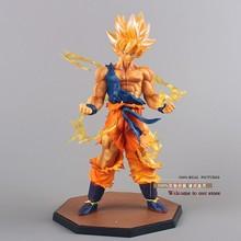 Free Shipping Anime Dragon Ball Z Super Saiyan Son Goku PVC Action Figure Collectible Toy 17CM DBFG071(China (Mainland))