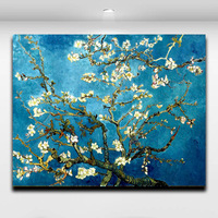 Van Gogh Painting Works Impressionist Style Apricot Art Home Decoration Frameless Paintings Core Free Shipping