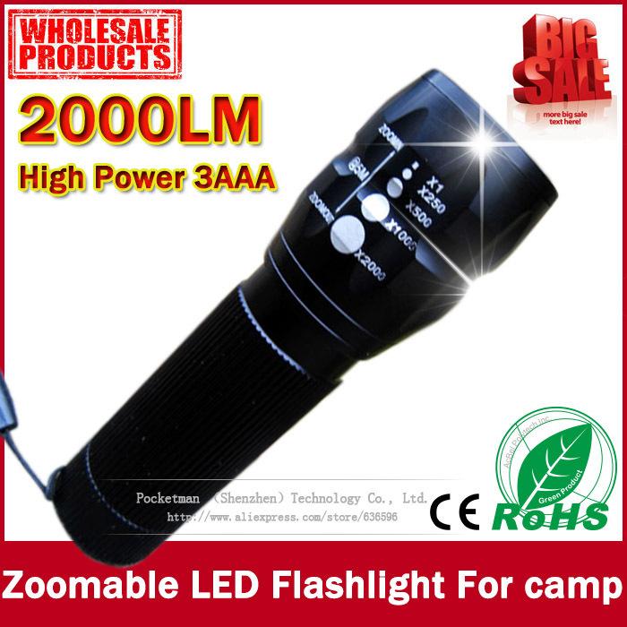 1pcs MINI 20000Lumens LED Flashlight Camping hiking fishing hunting cycling highlighted Torch laser Lamp Light Zoomable(China (Mainland))