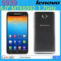 Original Lenovo S939 MTK6592 Octa Core  Phone 6inch IPS 1GB RAM 8GB ROM 8MP Android 4.2 GPS 3G Dual SIM