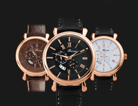 Casual Genuine Leather Strap Watches Men Sports Watches Military Vogue Luxury Men Quartz Analog Military Watch Men Clock relojes