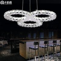 free shipping Eight shaped brief led living room pendant light modern dining room lamp crystal pendant light lighting