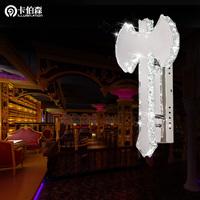 free shipping Personality the axe wall lamp led crystal wall lamp bar decoration wall lights 81048