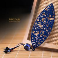 Leaves bookmark / metal / creative gifts / handmade retro / classic leaf veins