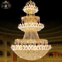 High quality luxury large pendant light fashion pendant light stair lamp hall pendant light living room lights 8224