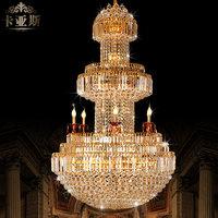 free shipping K9 crystal large pendant light luxury crystal lamp living room pendant light 8227