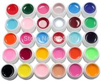 30 Color SOLID PURE UV GEL Builder NAIL ART Polish cleanser plus kit set