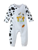 NEW Baby / Infant Long Sleeve Clothes White Milk COW 0~12months (7063) FREE SHIPPING