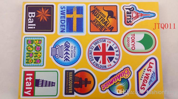 Alfa img - Showing > Paris Suitcase Sticker