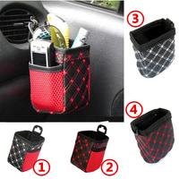Car multi Pocket Storage Organizer Arrangement Bag of  car air outlet  mobile phone bag  carriage bag car accessory