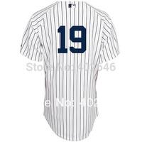 Wholesale baseball NEW YORK #19 Masahiro Tanaka white or grey jerseys, please read size chart before order