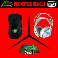 Promotion Bundle, Razer Deathadder 2013 + Razer Goliathus 2013 Small SIze+Steeleeries Siberia Frostblue, Brand New Free Shipping