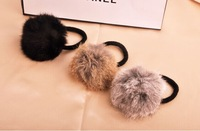 Mini 2 pcs Vivi recommended japan autumn winter hairy ring ball accessories ornaments hair rope headband  decorations GL
