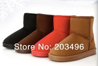 FREE SHIPPING Faux Wool Warm Couple's Winter Snow Boots Shoes Size 35-44