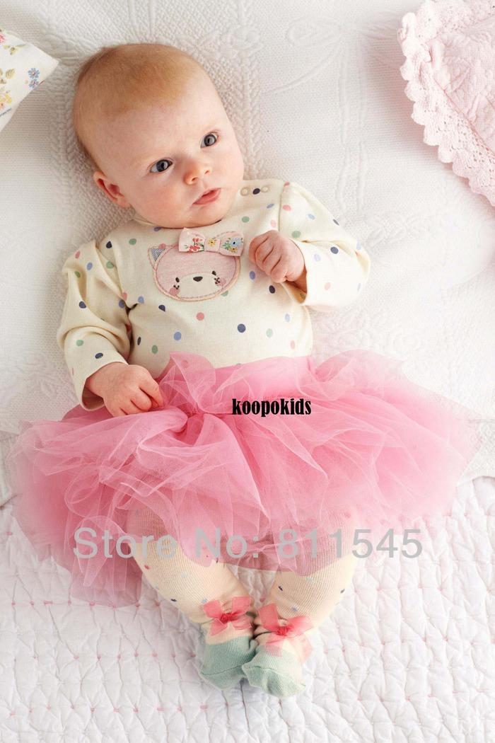 Baby girl clothing set bodysuit lace tutu skirts new in 2014 newborn