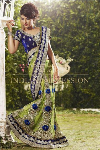 indian saree Pakistan traditional clothing sari wedding clothes evening dress(China (Mainland))