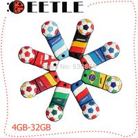 2014 world cup gift  football usb flash drive flash memory  usb sticks 32gb pendrive u disk 16gb 8gb 4gb