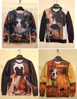 High quality 3D Fashion Animal Print Hoodies Cat Face Dug Print Hoodies 3D Sweatshirt Women Sportwear Men