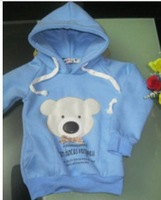 Free shipping B2w2 Bear Head Bowtie Sweater/ Hoodies clothes/Girl's Boy's Sweater/Kids Clothes/Kids Sweater/Babywear