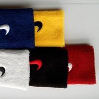 Free shipping(6pcs/lot)Roger Federer RF/Nadal sport wristband embroidery sweatband tennis racket/basketball/Speedminton/padel