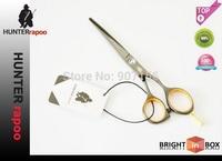 Perfect Black Steel Hair Cutting Shears Barber Scissors Razor Scissors Profession 5.5 INCH,61HRC ,440C Quality  Free Shipping