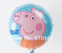 New Arrival Free shipping 10pcs/lot foil balloon Peppa pig balloons