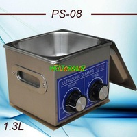 free shipping to Russian PS-08 small Ultrasonic cleaner 1.3L 40KHZ for Household glasses jewelry ultrasonic cleaning machine
