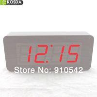 Hot 2014 wood wooden LED clock alarm clock big number hot selling diqital desktop clocks
