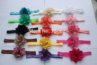 2014 children's multi- pointed flower hair accessories elastic baby headband head flower 15 color 8CM 100pcs/lot