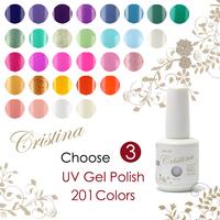 Choose 3 pieces in 201 colors Cristina UV Gel Polish 15ml 0.5oz Nail Gel Free Shipping