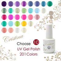 Choose 10 pieces New 201 colors Cristina UV Gel Polish 15ml 0.5oz Nail Gel Free Ship