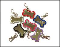 New Arrival Free Shipping  200PCS/LOT 40*29MM Mix Color Pet Products Dog Bone Pet Tags Pet Dog Cat  ID Tags Custom dog tags