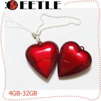 love usb flash drive 2.0 usb memory flash pen drive stick usb flash memory red 4gb to 32gb u disk