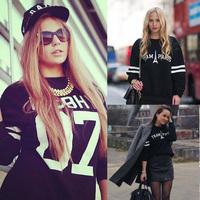 2014 new fashion women sweatshirt brand plus size loose hoodies spring print sweatshirts casual women pullovers