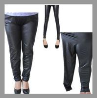 pants leather pants faux fur fashion leggings fat girl leggings Extra large plus size clothing trousers elastic high waist