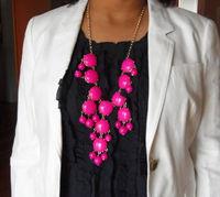 LNN02 Women's Vintage Candy Coloured  Fashion Geometric Bubble Bib Collar Necklace Ladies Torque Free Shipping