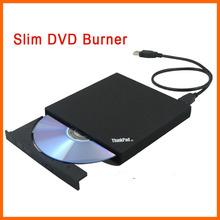 Free shipping slim saving  external USB DVD burner optical drive notebook drive(China (Mainland))
