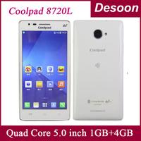 Free Shipping Original 4G TD LTE phone Coolpad 8720L Original Coolpad 4G LTE Quad Core 1G RAM 4G ROM 5MP 5.0 OGS 2000mah /Amy