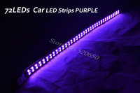 4 xNew 30cm Double Lines 72LED Car Trucks Moto Grill Flexible Waterproof Super Bright Light Strips PURPLE Freeshipping&Wholesale