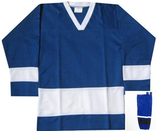 HOCKEY JERSEYS+ Hockey Socks Hockey clothing Ice Hockey Wear MEN Blue(China (Mainland))