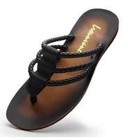 Gladiator sandalds men summer slippers male genuine leather flip flops slip-resistant plus size sandals for men free shipping