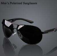 New Men's Polarized Sungalsses Case Aviator Driving Goggle Eyewear + Night Vision Glass Anti-UV400 Glare Blocking Free Shipping