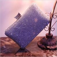 Free Shipping 2014 New Luxury Diamond BlingBling Rhinestone Crystal Evening Bag Party Wedding Handbag Purse with chain 3 colors
