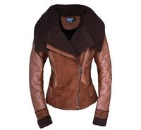 Free Shipping 2013 Best new Women's Winter Fashion One Fur Coat Turn-Down Collar Female Sheepskin Wool-One Outerwear WC126