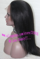 Yaki straight Fashion black women Lace Front/Full Lace Glueless Wigs Brazilian Virgin Remy Human Hair With Natural Parting Hot