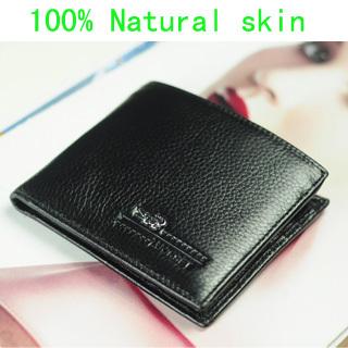 Guarantee!!!100% Genuine Leather Man Wallet 2014 New Men arrival brand design purse Crocodile short fold natural skin wallets(China (Mainland))