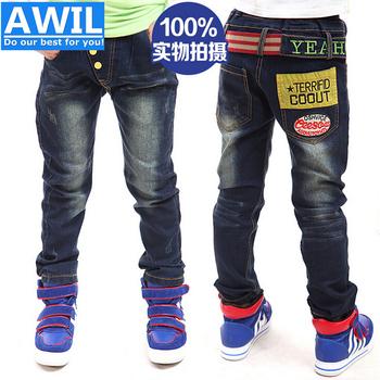 Бесплатная доставка новый 2014 осень джинсы для мальчиков мода дети джинсы детская одежда 2 - 8 лет мальчиков брюки в розницу