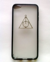 DIY hand-made with Deathly Hallows triangle harry potter Case Cover For iPhone 5/5S studded case,10color+retail Package
